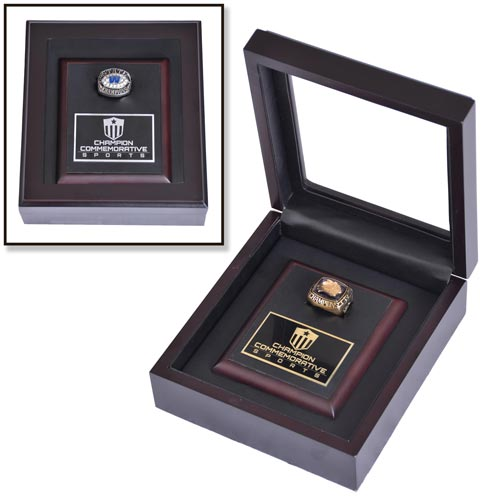 Wood Championship Ring Display Box