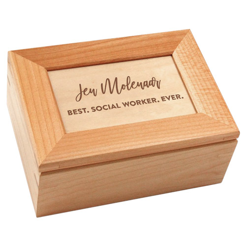 Social Worker Gifts - Personalized Keepsake Box