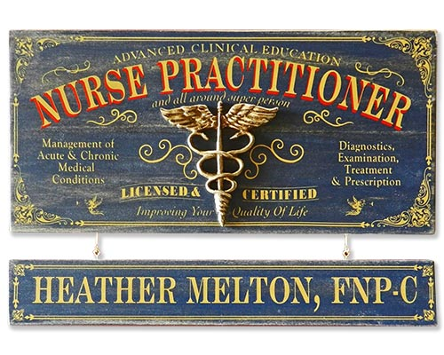 Nurse Practitioner Gift Ideas - Personalized Sign