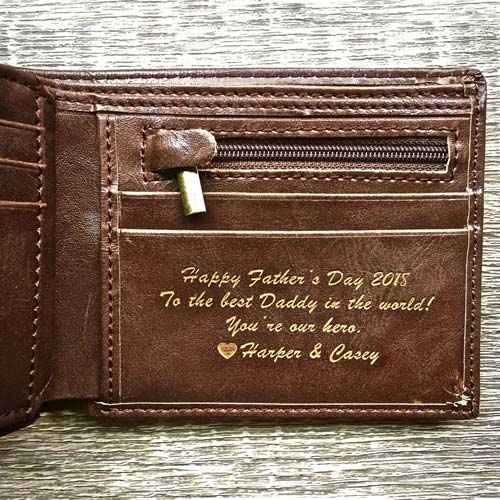 Leather Wallet Personalized Father's Day Gift Idea