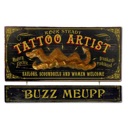 Vintage Tattoo Plaque