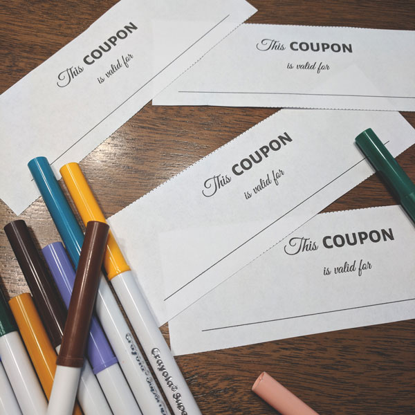 DIY Coupon Book for Kids