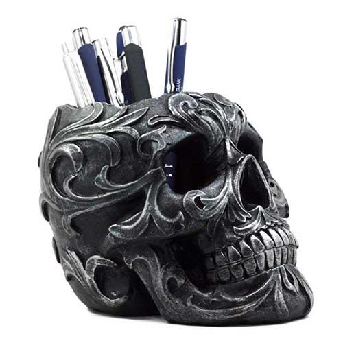 Skull Pencil Holder Tattoo Artist Gift
