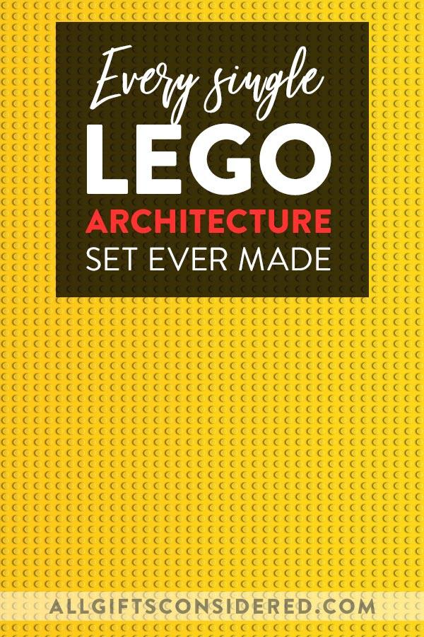 Every Lego Architecture Set