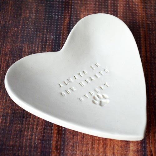 Handmade Heart Bowl Pet Memorial Gift