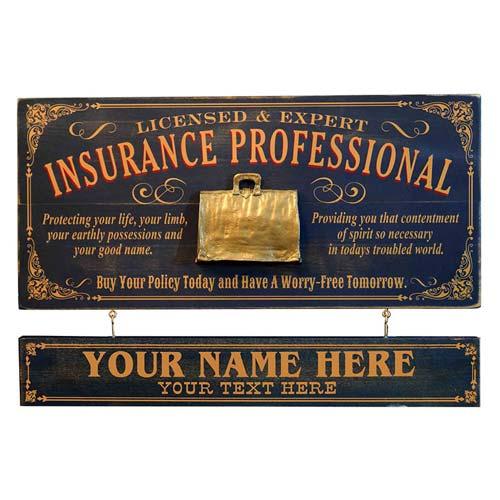 Custom Wood Insurance Agent Gift