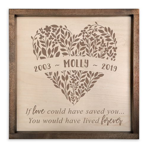 Pet Memorial Gifts - Personalized Plaque