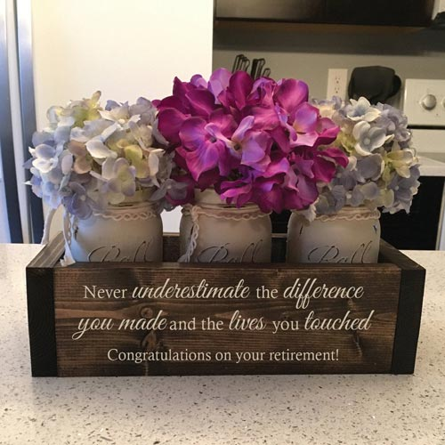 Personalized Wooden Flower Box