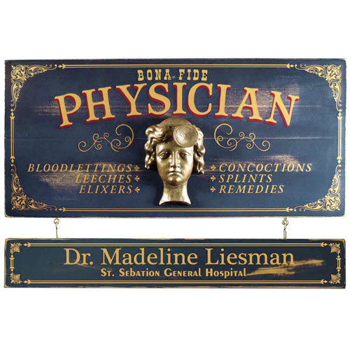 Vintage Physician Plaque