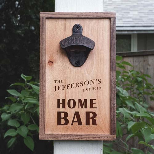 Beer Connoisseur Gifts - Wooden Wall Opener