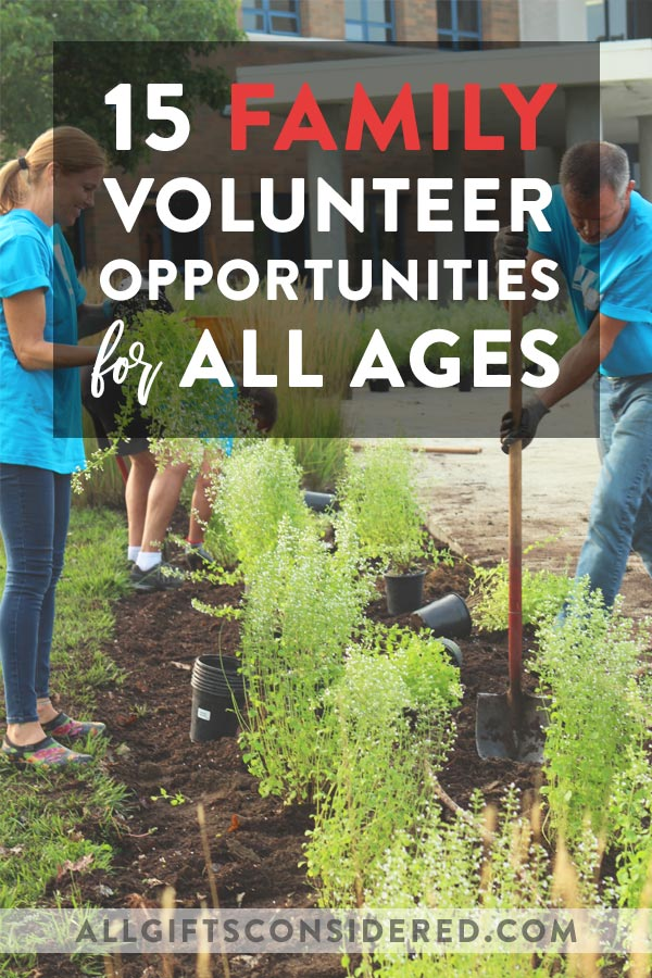 Family Volunteer Ideas