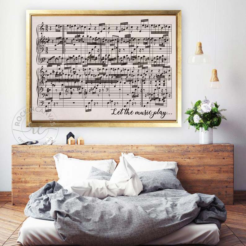 Custom Music Sheet Art Gift Idea for Her