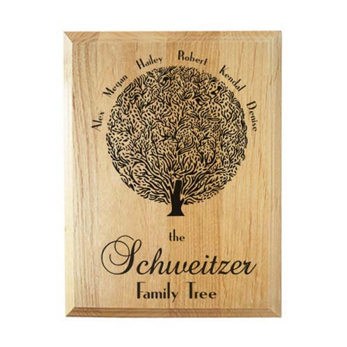 Personalized Gifts for Her - Family Tree Plaque