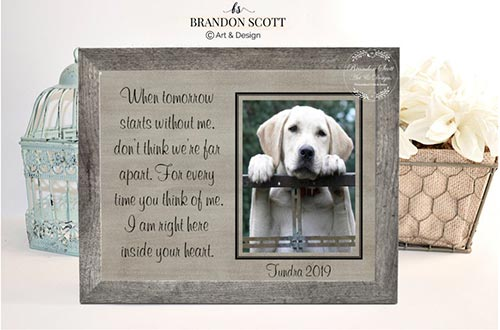 Sympathy Gift Pet Frame for Pet Loss