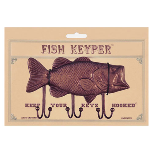 Gifts for Boat Owners: Bass Fish Key Rack