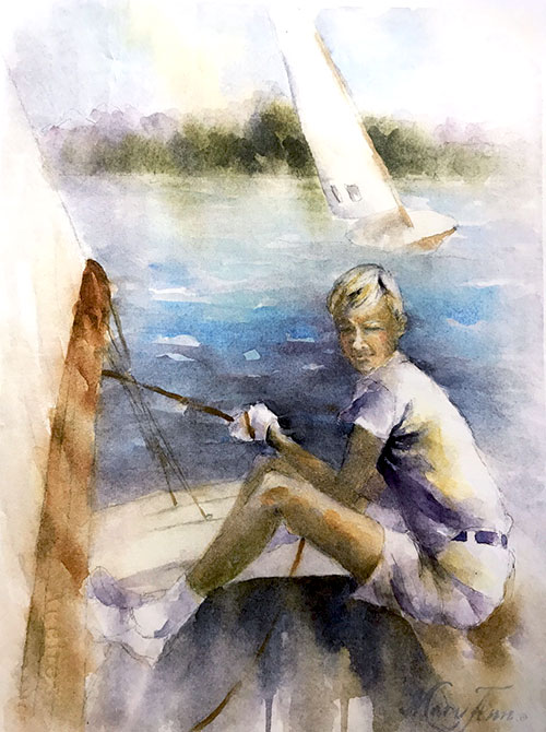 Sailing Portrait - Gifts for Boat Owners