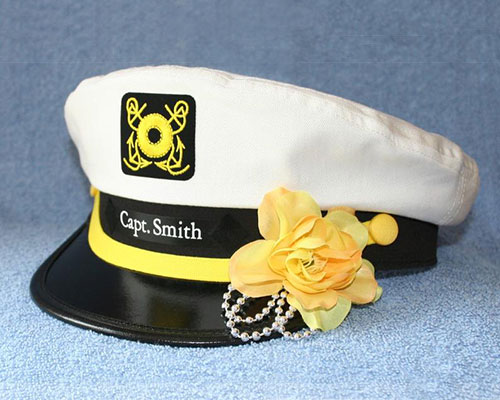 Personalized Captain's Hat Boat Owner Gift
