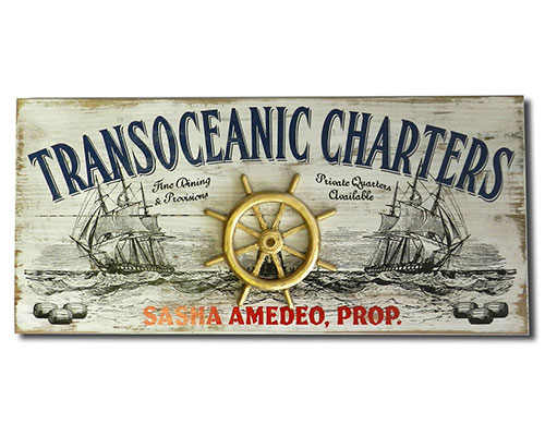 Custom Vintage Sailing Sign for Boat Room