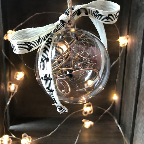 Christmas Ornament with Guitar Strings