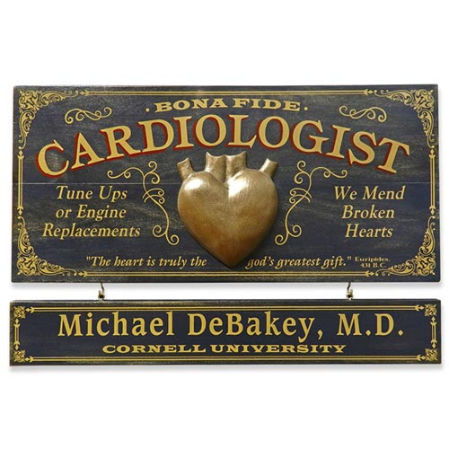 Vintage Personalized Doctor Plaque