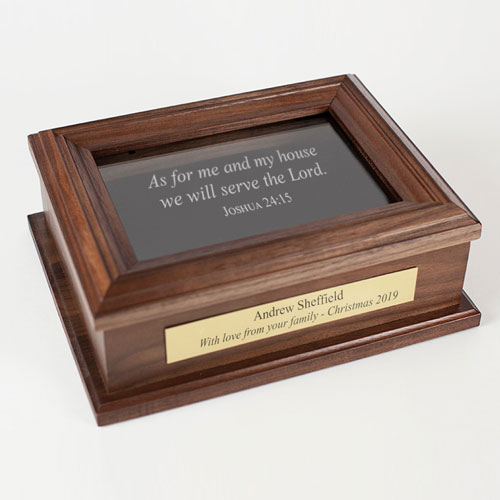 As for me and my house we will serve the Lord keepsake box