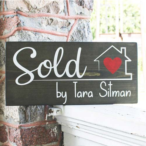 Sold By Real Estate Agent Sign
