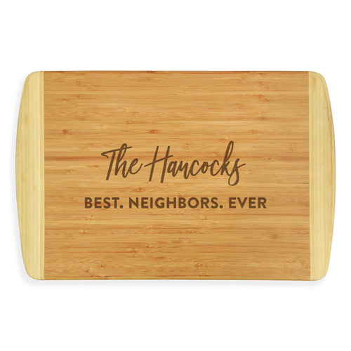 Best Neighbor Gifts - Personalized Cutting Board
