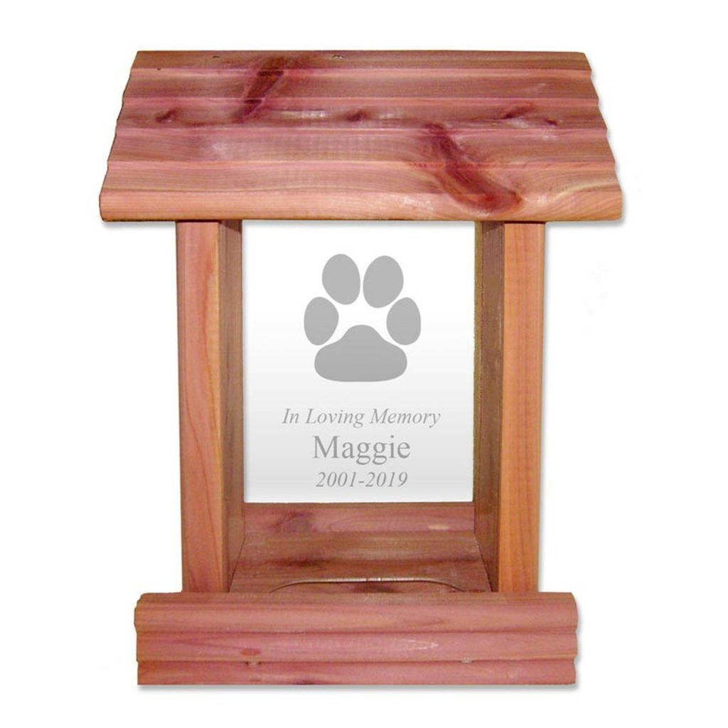 Personalized Bird Feeder for Dog Memorial