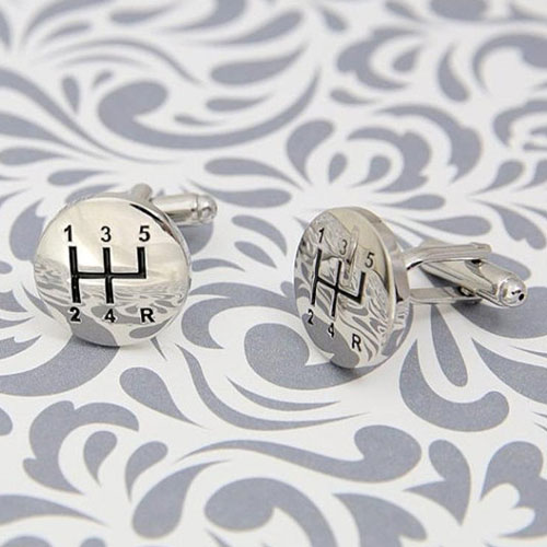 Gifts for Car Lovers - Manual Gear Shift Cuff Links