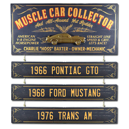 Muscle Car Collector Plaque - Gifts for Car Lovers