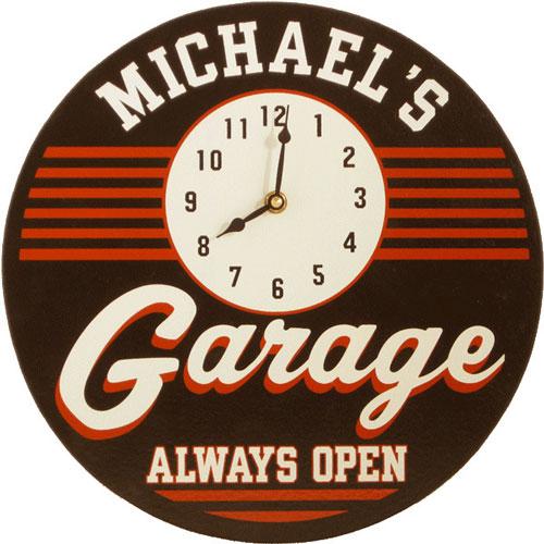 Retro Clock Sign for Garage