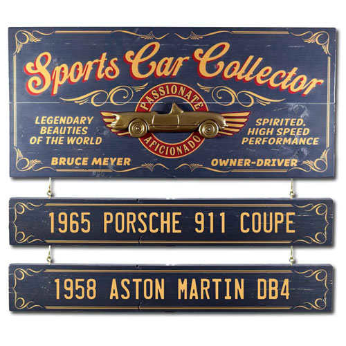 Custom Old-Fashioned Sports Car Plaque