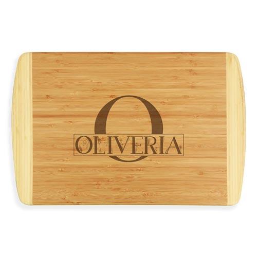 Custom Engraved Bamboo Wood Cutting Board