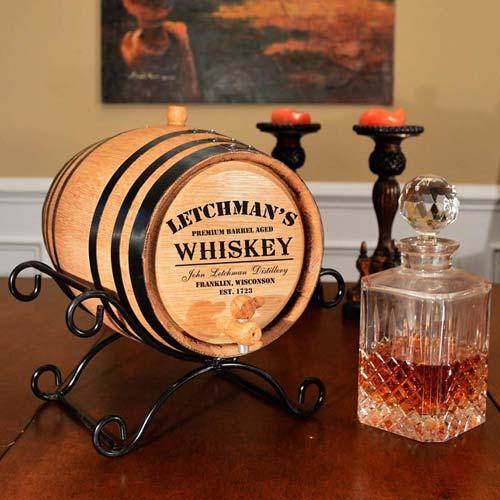 Custom Oak Aging Barrel Christmas Gift Idea