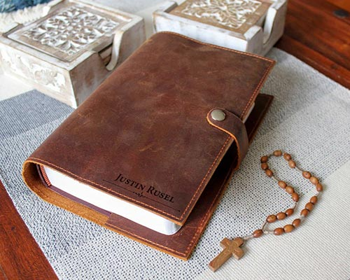 Gifts for Fathers Day - Personalized Bible Cover