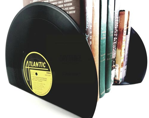 Fun gift ideas for Father's Day - Vinyl record bookends