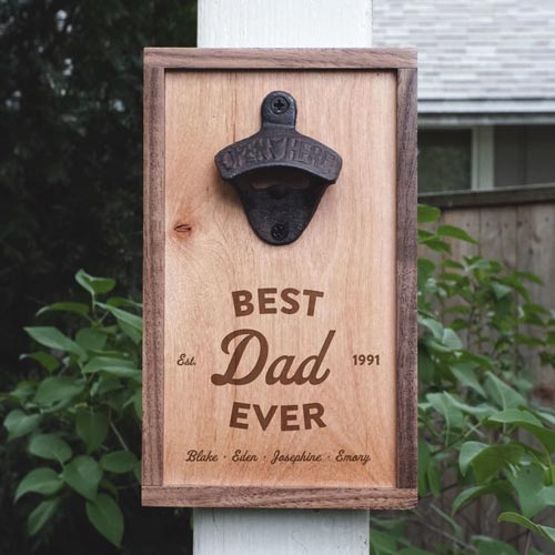 Best Dad Ever Bottle Opener Gifts for Father's Day