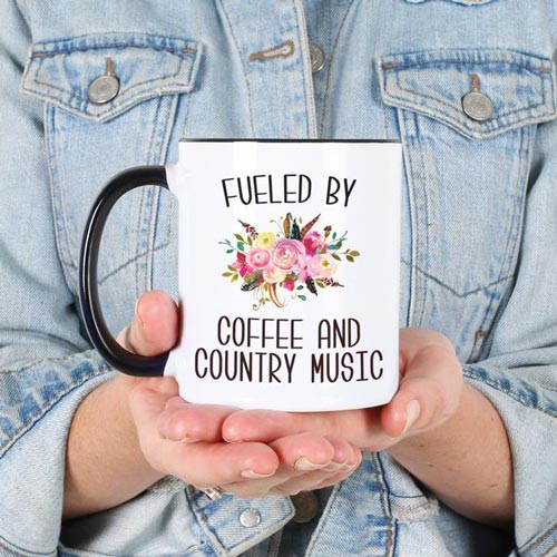 Fueled By Coffee and Country Music Mug