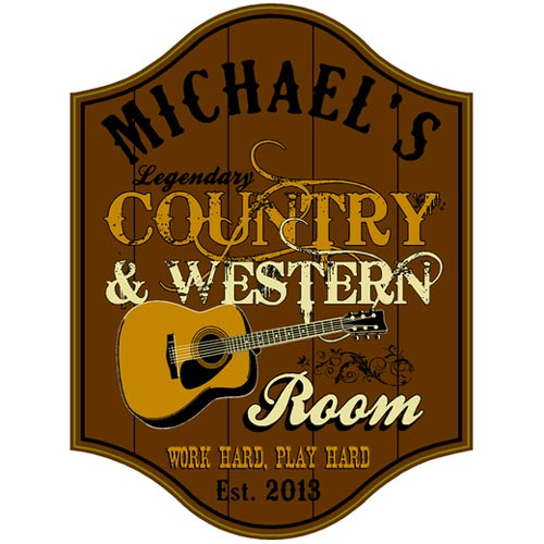 Country & Western Bar Sign