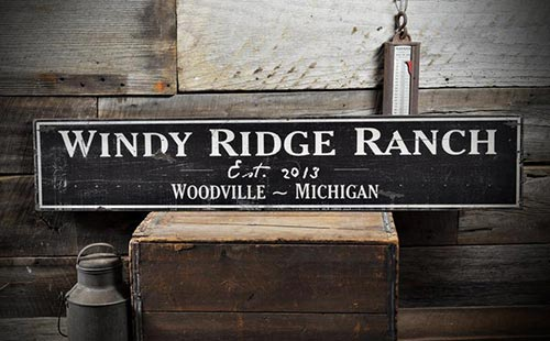 Personalized Ranch Sign