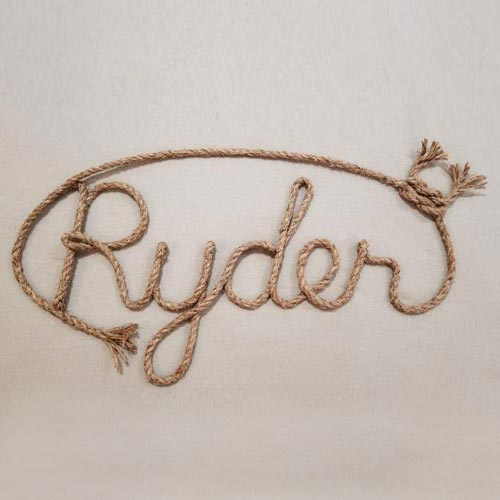 Personalized Rope Sign