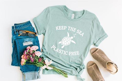Plastic Free Sea Ocean Lover Clothing