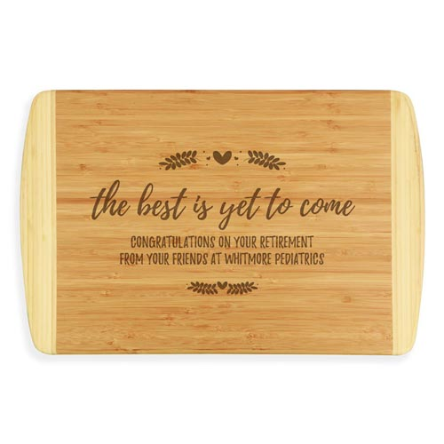 Custom Engraved Bamboo Wood Cutting Board