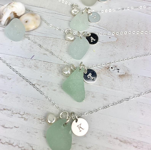 Personalized Sea Glass Necklace