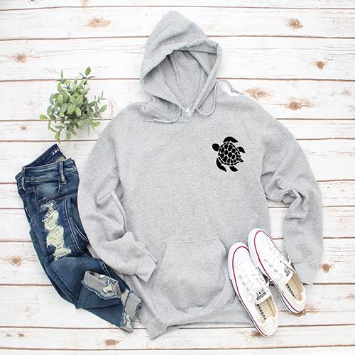 Gray Sweatshirt with Sea Turtle