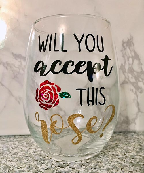 Rose Wine Glass for Her
