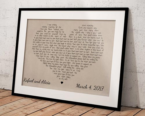 Valentine's Day Gifts for Him - Custom Heart Canvas