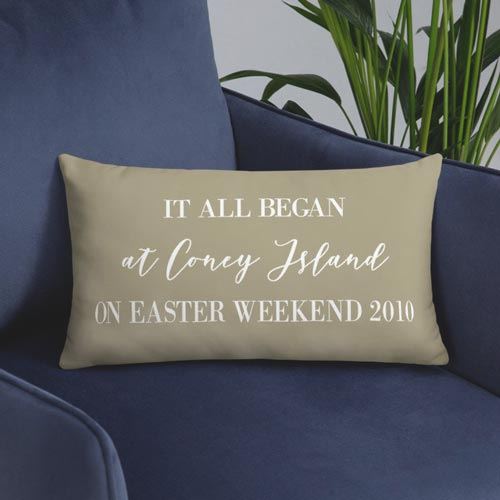Where it all began personalized pillow