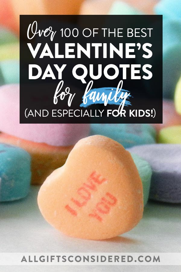 Valentine's Day Quotes for Family (Especially Kids)