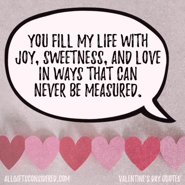 Sweet love quotes for family Valentines